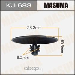 Клипса (пластиковая крепежная деталь) (Masuma) KJ683