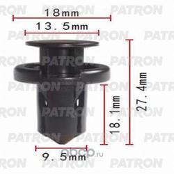 Клипса пластмассовая (PATRON) P370341