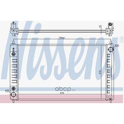 Радиатор, охлаждение двигателя (Nissens) 68762