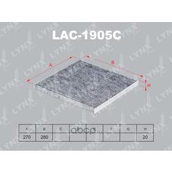 Фильтр салонный угольный (LYNXauto) LAC1905C