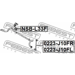 Втулка переднего стабилизатора d23 (Febest) NSBL33F