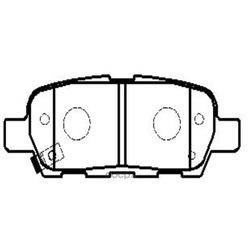 Колодки тормозные дисковые (Ctr) CKN17
