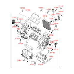 Защитный кожух воздушного фильтра салона (Hyundai-KIA) 971291E000