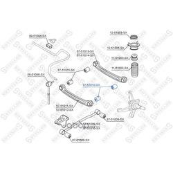 Подвеска, рычаг независимой подвески колеса (Stellox) 8751010SX