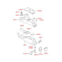 Резиновый коврик напольной консоли салона (Hyundai-KIA) 8462525400