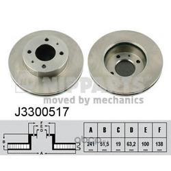 Тормозной диск (Nipparts) J3300517