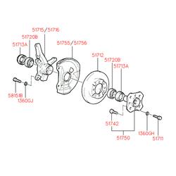 Болт с шестигранной головкой (Hyundai-KIA) 5174211130
