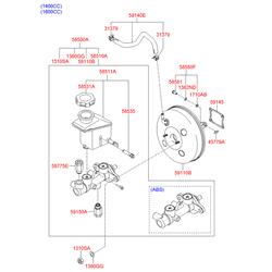 Вакуумный усилитель тормозов (Hyundai-KIA) 585001G100