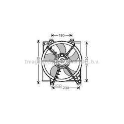 Вентилятор, охлаждение двигателя (Ava) HY7506