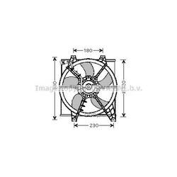 Вентилятор, охлаждение двигателя (Prasco) HY7506