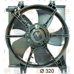 Вентилятор, охлаждение двигателя (HELLA) 8EW351034451
