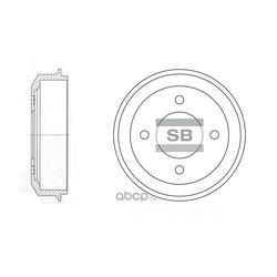 Диск тормозной (Sangsin brake) SD1003