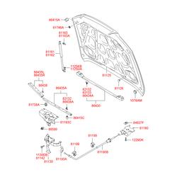 Заглушка крышки багажного отсека (Hyundai-KIA) 8174621000