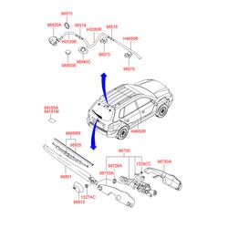 Заглушка кузова (Hyundai-KIA) 8418537010