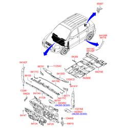 Заглушка панели пола (Hyundai-KIA) 8413529000