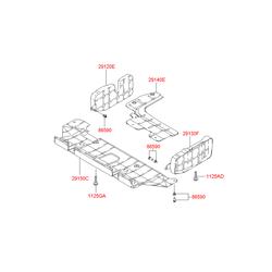 Защита двигателя левая (Hyundai-KIA) 2913025000
