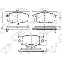 Колодки тормозные передние (Sat) ST581011GA00