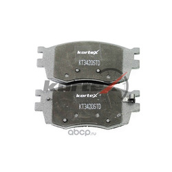 Колодки тормозные передние комплект (KORTEX) KT3420STD