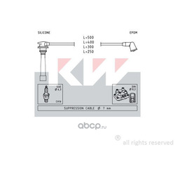 Комплект проводов зажигания (KW) 358111