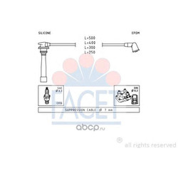 Комплект проводов зажигания (Facet) 47111