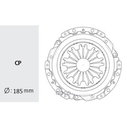 Корзина сцепления (Valeo) HDC34
