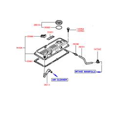 Крышка маслозаливной горловины (Hyundai-KIA) 2651011510