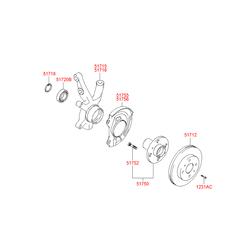 Кулак поворотный передний левый (Hyundai-KIA) 5171525100
