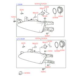 Лампа галогенная (Hyundai-KIA) S1864761566E