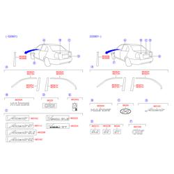 Молдинг двери (Hyundai-KIA) 8636625001