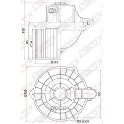 Мотор отопителя салона (Sat) ST971121C000