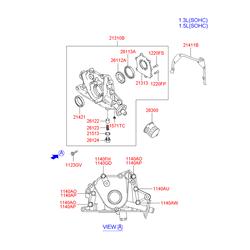 Насос масляный (Hyundai-KIA) 2131022650