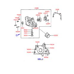 Насос масляный (Hyundai-KIA) 2131022011