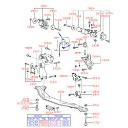 Опора двигателя правая (Hyundai-KIA) 2181022510