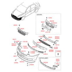 Панель заднего фонаря (Hyundai-KIA) 863601E012
