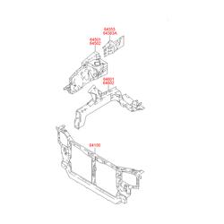 Панель крепления радиатора (Hyundai-KIA) 6410025301