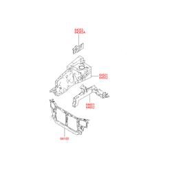 Передняя рама кузова (Hyundai-KIA) 6410025401