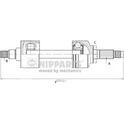 Приводной вал (Nipparts) N2810500