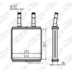 Радиатор отопителя салона (Sat) STHN043950