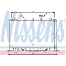 Радиатор, охлаждение двигателя (Nissens) 67502