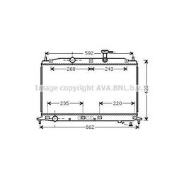 Радиатор, охлаждение двигателя (Ava) HY2188