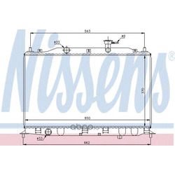 Радиатор, охлаждение двигателя (Nissens) 67509