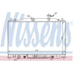 Радиатор, охлаждение двигателя (Nissens) 67503