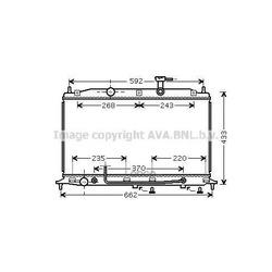 Радиатор, охлаждение двигателя (Ava) HY2177