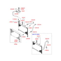 Радиатор, охлаждение двигателя (Hyundai-KIA) 253101E000