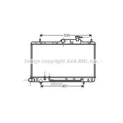 Радиатор, охлаждение двигателя (Ava) HYA2086