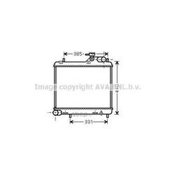 Радиатор, охлаждение двигателя (Ava) HY2125