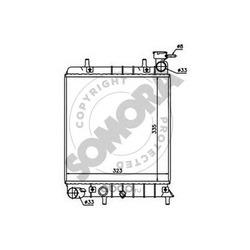 Радиатор, охлаждение двигателя (SOMORA) 131240