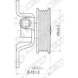 Ролик натяжителя приводного ремня (Sat) ST9783422100