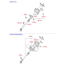 Рулевая колонка (Hyundai-KIA) 563000N500