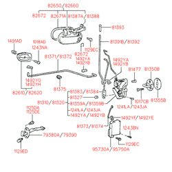 Ручка двери (Hyundai-KIA) 8266022010